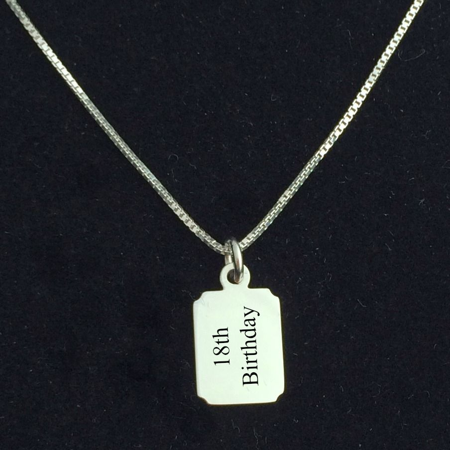 engraved necklace for boys silver chain charming engraving